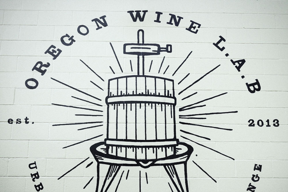 Oregon wine lab wall logo