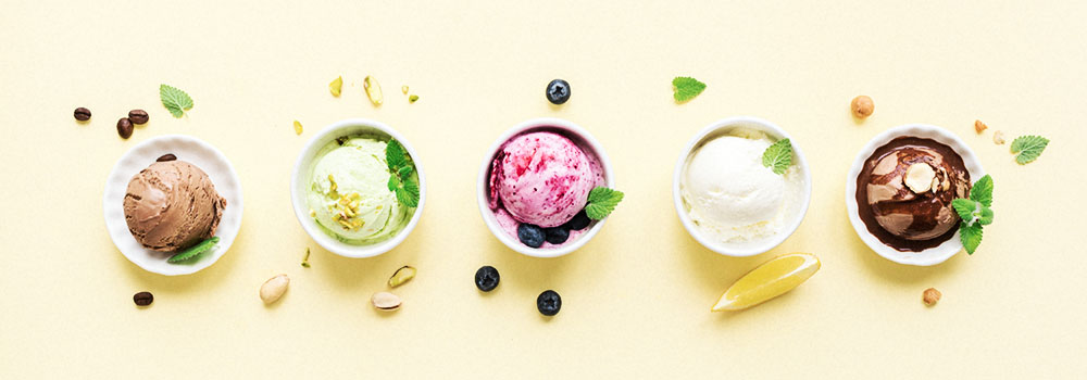 Gelato and Ice Cream Assortment